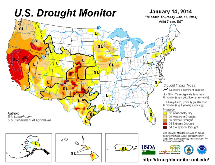 Drought Map NOAA
